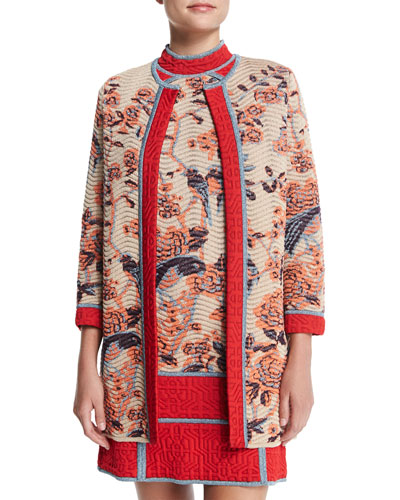 Floral Tapestry Jacquard Coat