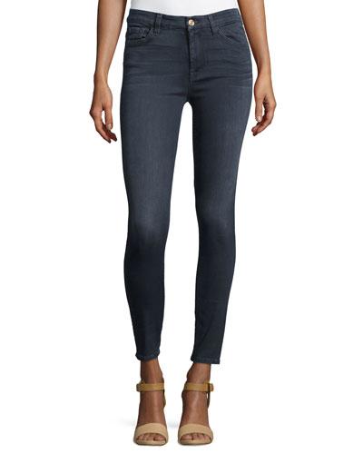 High-Waist Ankle Skinny Jeans, Bastille