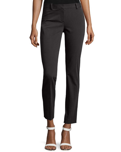 Treeca Slim Cropped Pants, Charcoal