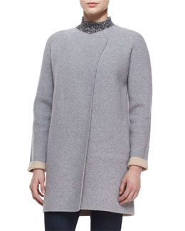Nyma K. Two-Tone Felt Coat