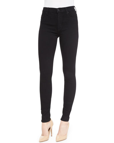 Barbara High-Rise Skinny Jeans, Black