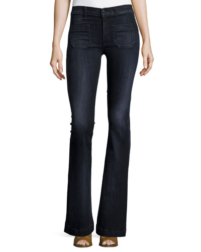 Taylor High-Rise Superior Flared Jeans, Blackbird