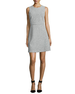 Raneid Sleeveless A-Line Dress, Light Heather