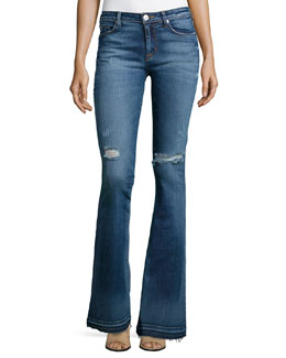 Mia High-Rise Flared Jeans, Beaudry