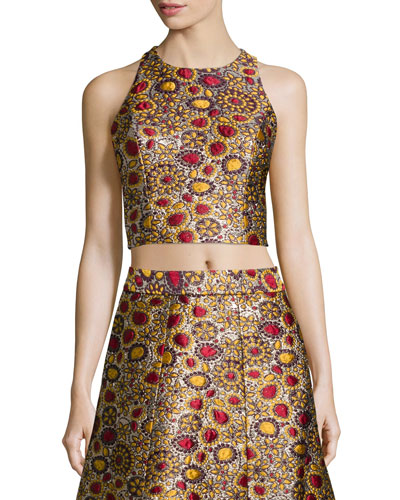 Farrah Jacquard Crop Top