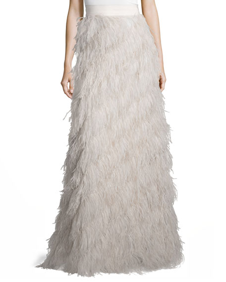 Sherell Ostrich Feather Skirt