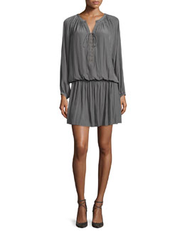 Alexandra 3/4-Sleeve Dress, Smokey Gray
