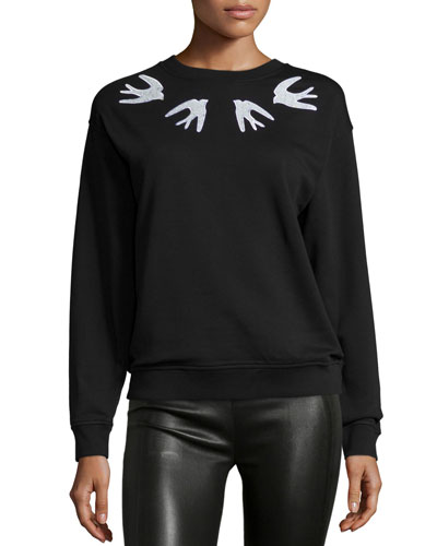 Classic Embroidered Sweatshirt, Black