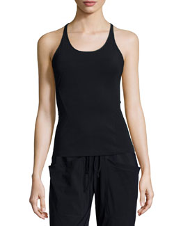 Knox Racerback Tank Top, Black