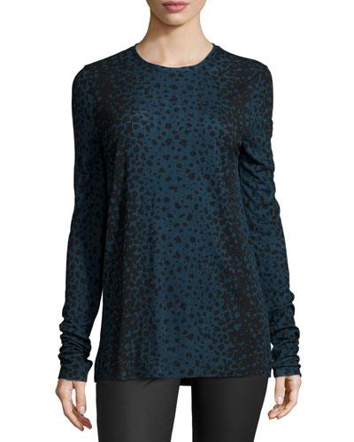 Leopard-Print Crewneck Shirt