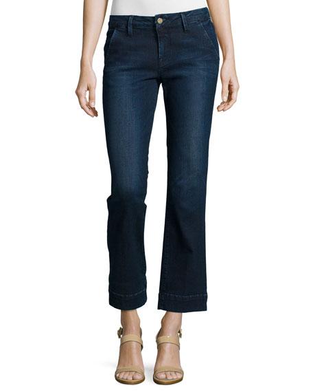 Le Slim Straight Cropped Denim Jeans, Denrock