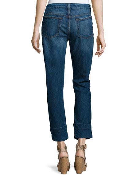 Le Grand Garcon Cropped Trouser Jeans, Novello
