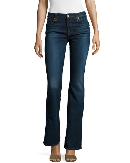 Tailorless Kimmie Boot-Cut Jeans, Tried & True Blue
