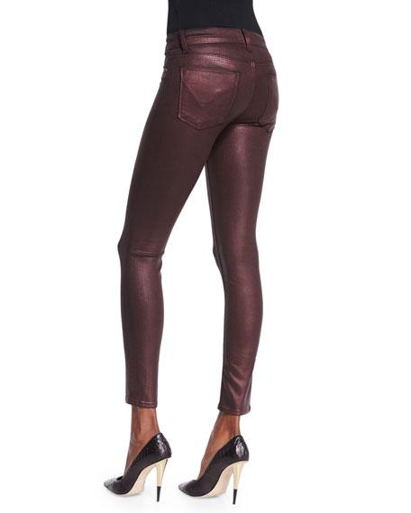 Krista Skinny Ankle Jeans, Metallic Amber