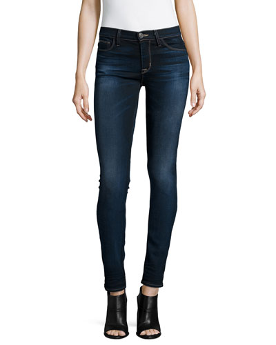 Shine Mid-Rise Skinny Jeans, Crowbird