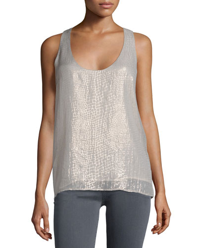 Mirla Metallic Printed Top