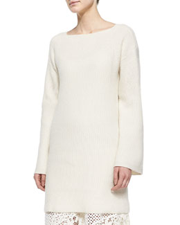 Bell-Sleeve Sweater Tunic