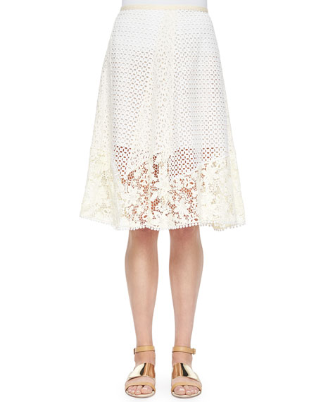 Lace A-line Knee-Length Skirt