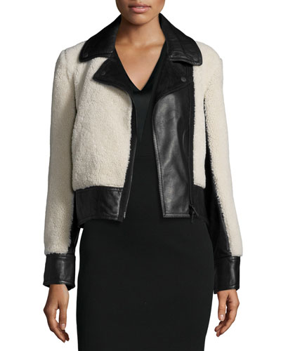 Billie Leather & Lamb Fur Jacket