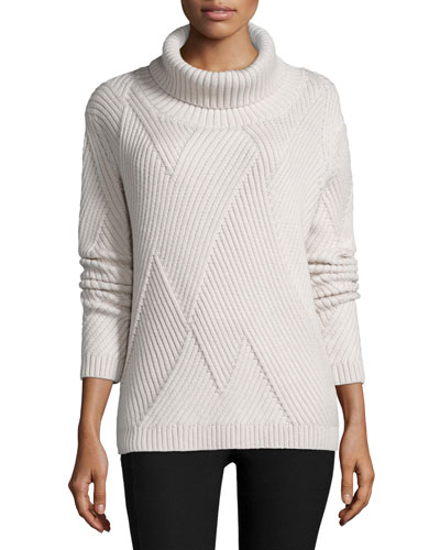 Blithe Knit Turtleneck Sweater, Antique White