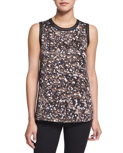 Edie Dotted Silk Tank