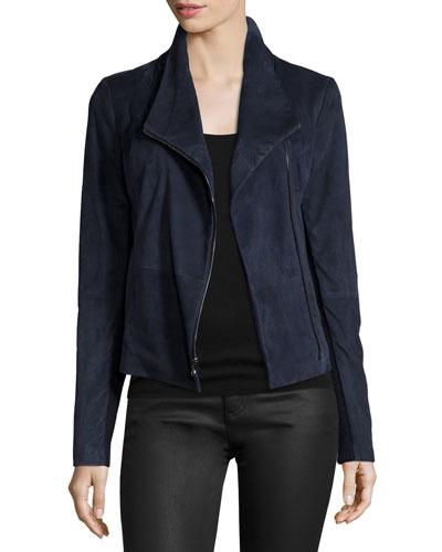 Scuba-Style Suede Jacket