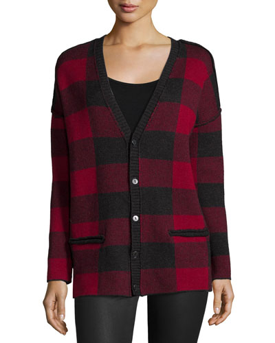 The V-Neck Plaid Cardigan, Forester