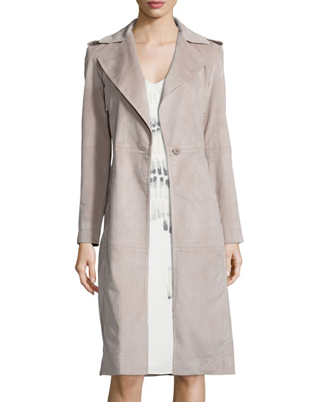 Long Slim Ultrasuede� Coat