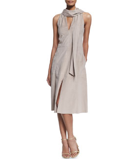 Sleeveless Ultrasuede® Dress W/ Scarf