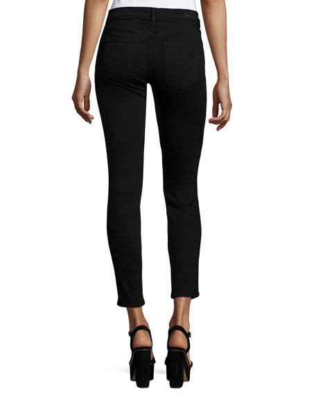 The Stiletto Distressed Skinny Jeans, Black