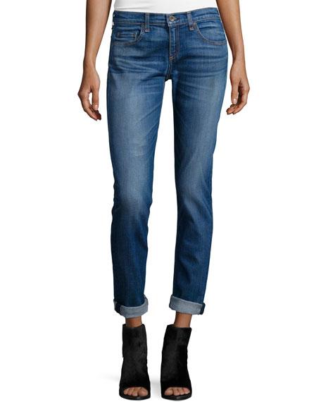 rag & bone/JEAN Dre Low-Rise Cropped Jeans, Stoke