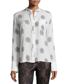 Julie Printed Button-Down Shirt