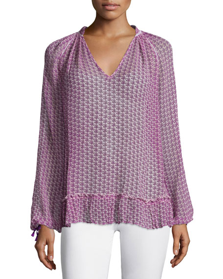 Calypso St. Barth Sermi Long-Sleeve Printed Top, Janeiro