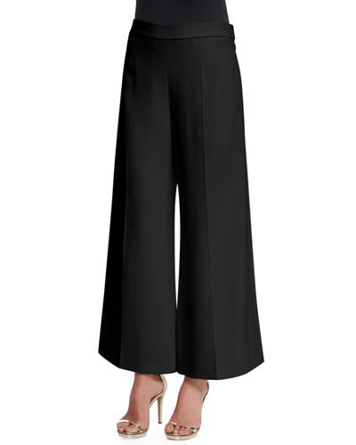 Sirius Stretch Wide-Leg Pants, Black