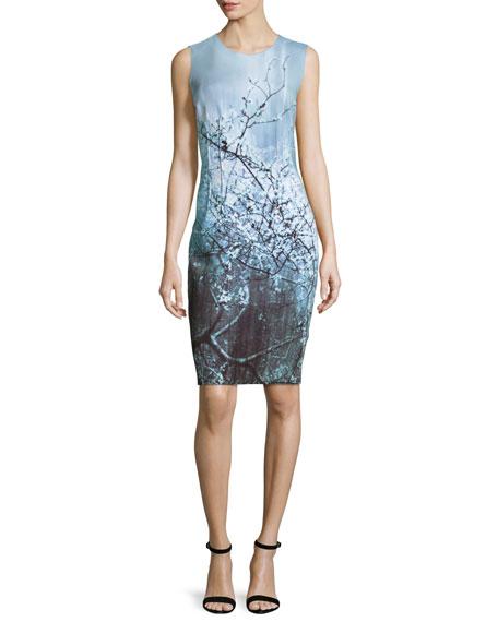 80d0364a9e89 Elie Tahari Gwenyth Sleeveless Sheath Dress, Atlantis