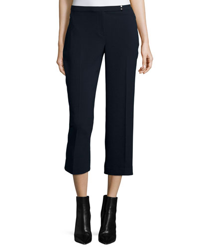 Carla Straight-Leg Cropped Pants, Stargazer