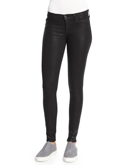 Krista Skinny Coated Jeans, Noir