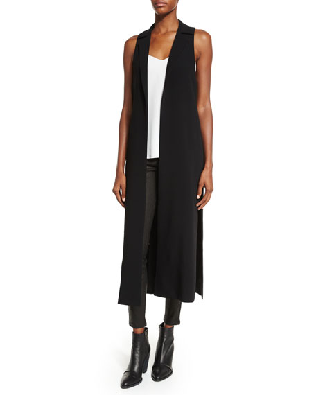 Elizabeth and James Ryzan Open-Front Long Vest