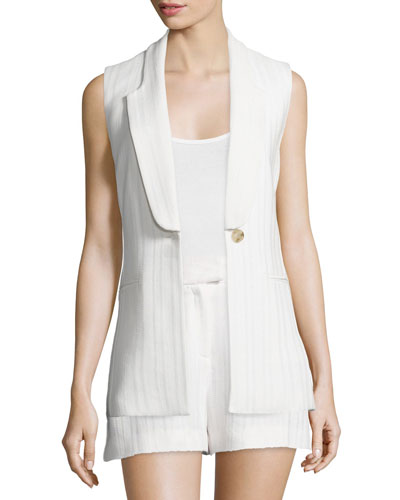 Lucia Long & Lean Vest, White