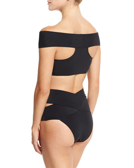 Lucette Off-The-Shoulder Two-Piece Swimsuit
