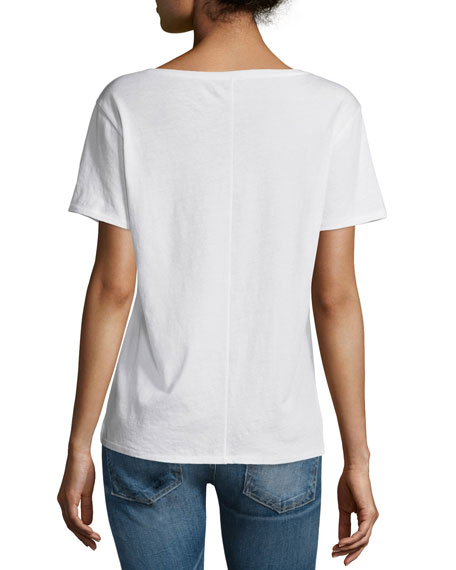 X-Boyfriend Short-Sleeve Tee, Bright White