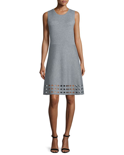Zita Sweater Dress W/Cutout Hem