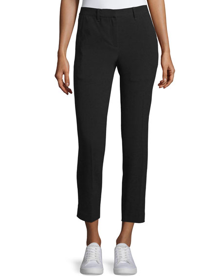 Rag & Bone Arrow Cropped Straight-Leg Pants, Black