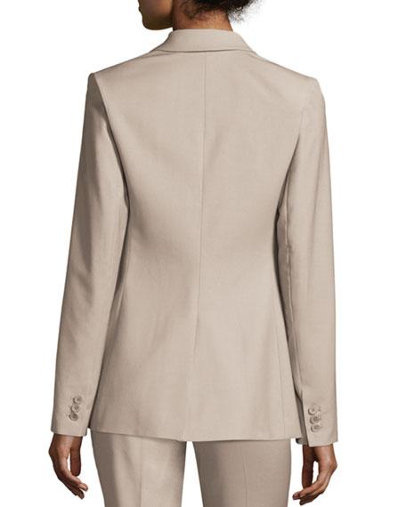 Aaren Continuous Wool-Blend Jacket, Gray Khaki
