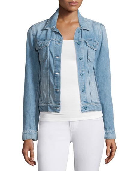 Rowan Button-Front Denim Jacket, Calloway