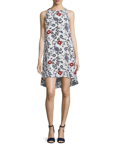 Adlerdale Marigold Floral-Print Silk Dress