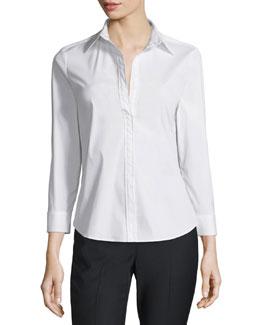 Joklann Long-Sleeve Luxe Shirt, White