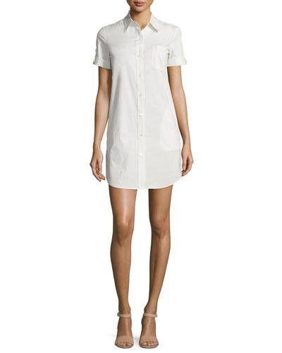 Mayvine Light Poplin Shirtdress, Classic Khaki