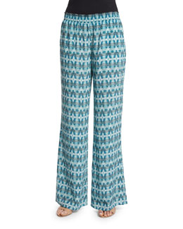 Isabeli Printed Silk Pants
