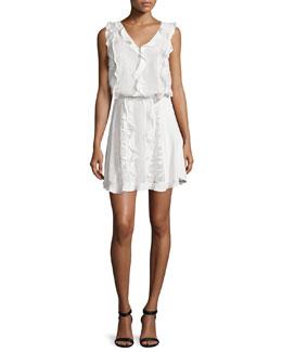 Celina Macrame Blouson Dress, White